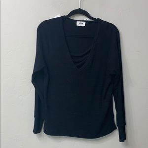 LNA vine slub sweater size S. Black. NWT